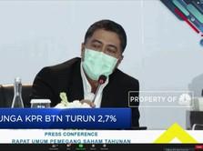 Bunga KPR BTN Turun 2,7%