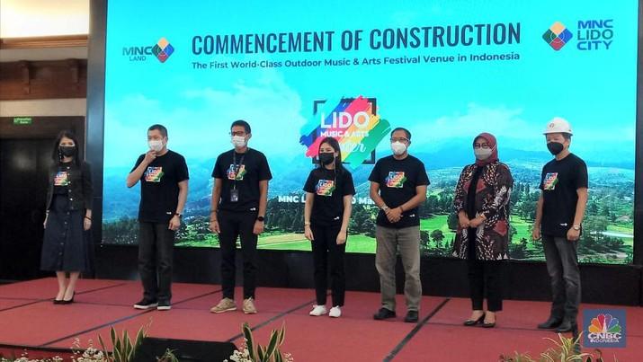 Groundbreaking pembangunan Lido Music & Arts Center di MNC Lido City, Bogor, Jawa Barat. Rabu 10 Maret 2021/Syahrizal Sidik/CNBC Indonesia