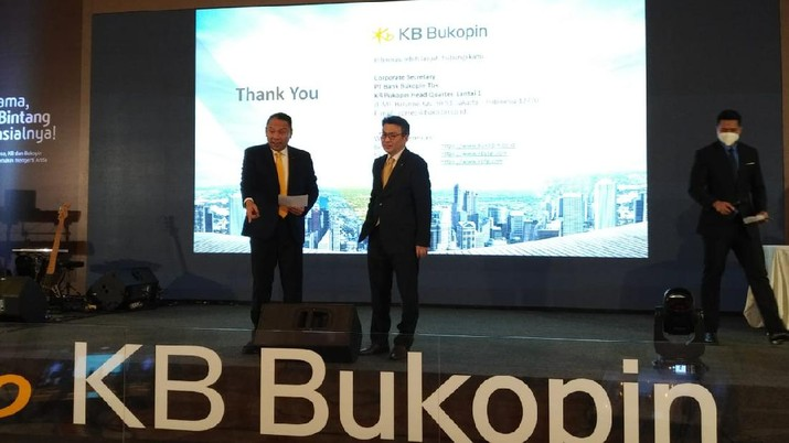 Peluncuran Logo dan Nama Baru PT Bank KB Bukopin di Four Season Jakarta. (CNBC Indonesia/Yuni A)