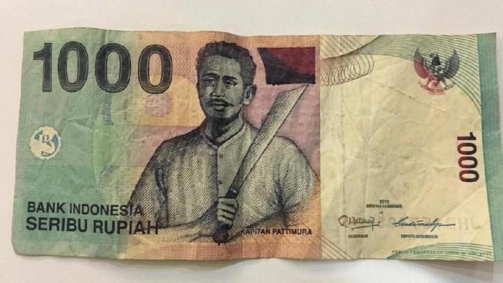 Mata Uang Rp 1000 Pattimura
