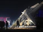 Penampakan Pesawat Jatuh di Kazakhstan, 4 Tewas