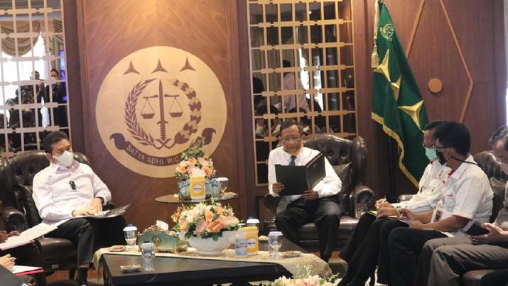 Pertemuan Jaksa Agung dan Menko Polhukam