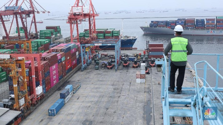 Ilustrasi Ekspor- Impor (CNBC Indonesia/ Tri Susilo)