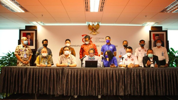 OJK fasilitasi pertemuan pemegang polis AJB Bumiputera, Selasa 16 Maret 2021/Dok. OJK