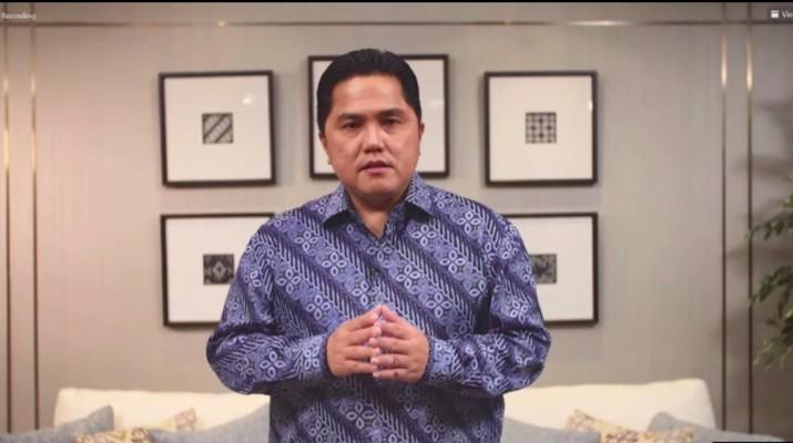 Erick Thohir di acara ISEI, Rabu 17 Maret 2021