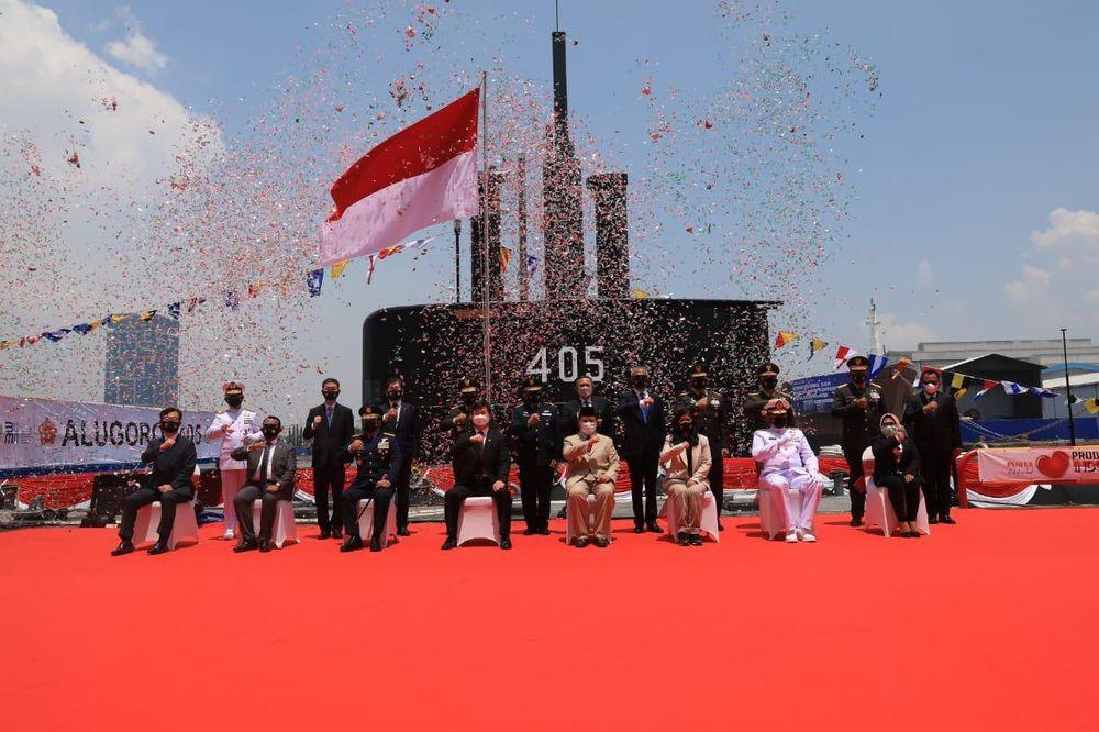 Serah Terima Kapal Selam yang diberi nama Alugoro-405  (Dok. Kementerian Pertahanan (Kemhan)