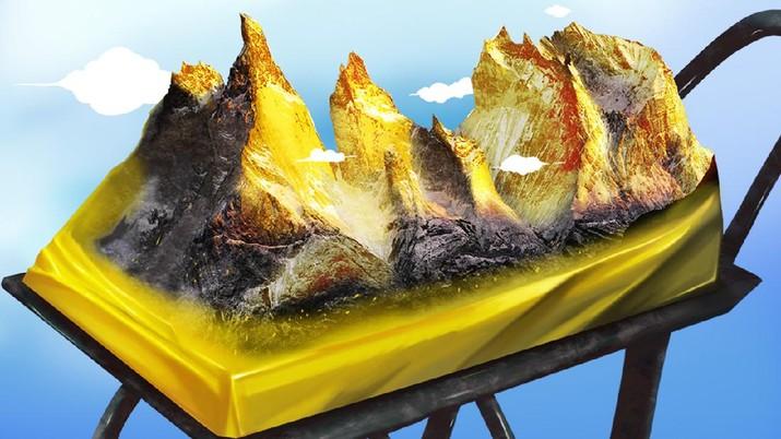 INFOGRAFIS, Deretan Gunung Emas Terbesar di Dunia