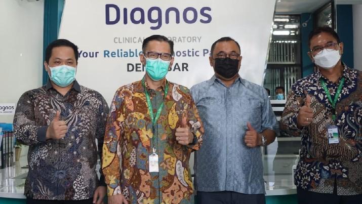 Peresmian laboratorium PCR PT Diagnos Laboratorium Utama Tbk. (kode saham: DGSN) di Jl. Diponegoro No. 147. Dauh Puri Kelod. Denpasar Barat. (Dok. Diagnos)