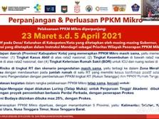 PPKM Mikro Diperpanjang 5 April, Kegiatan Kampus Mulai Dibuka