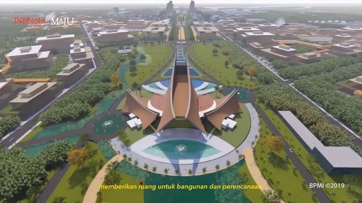 Istana Presiden di Ibu kota Baru (Foto: Dok. Tangkapan Layar Facebook PUPR)