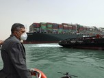 Kapal Raksasa 'Kejepit' di Terusan Suez, Ruginya Gede Banget!