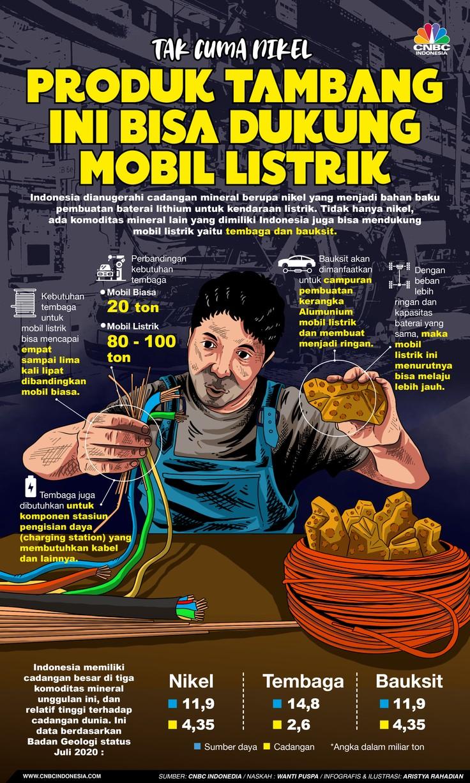 Infografis/ Tak Cuma Nikel, Produk Tambang Ini Bisa Dukung Mobil Listrik/Aristya Rahadian