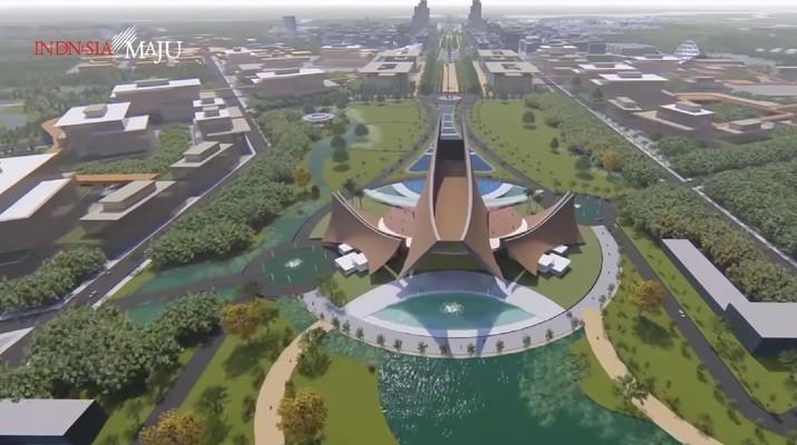 Istana Presiden di Ibu kota Baru (Foto: Dok. Tangkapan Layar Youtube)