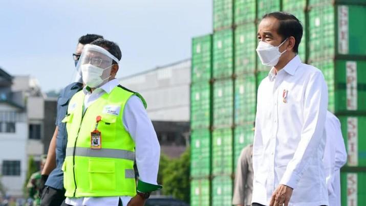 Jokowi di Pelabuhan Ambon (Foto: Muchlis Jr - Biro Pers Sekretariat Presiden)