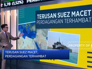 Terusan Suez Macet, Perdagangan Terhambat