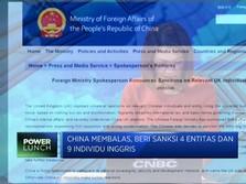 Balas Dendam, China Beri Sanksi ke Inggris