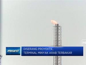 Diserang Proyektil, Terminal Minyak Arab Saudi Terbakar