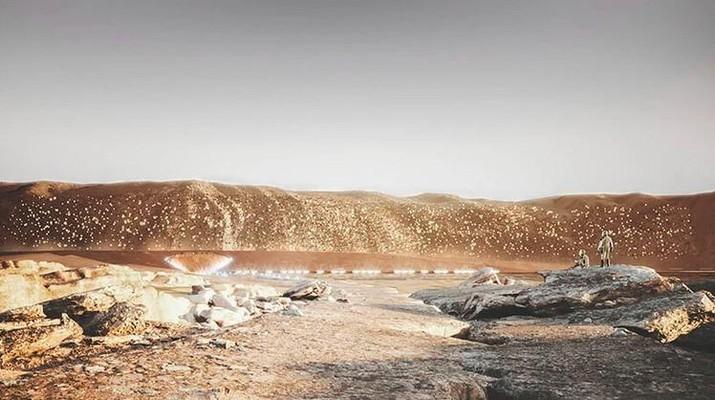 Hunian pertama manusia di planet Mars. (Dok: ABIBOO studio/SOnet)