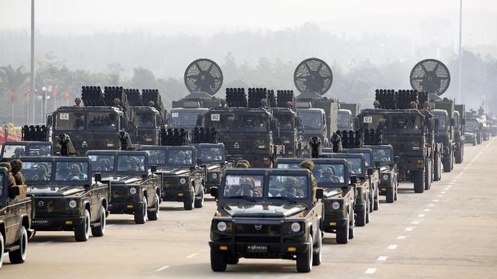 Ilustrasi militer Myanmar. AP/