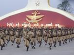 Militer Myanmar Pamer Alat Perang Saat Protes Kudeta Marak
