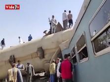 Tragis! Kecelakaan Maut Kereta di Mesir, 32 Tewas, 66 Terluka