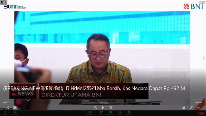 BNI Bagi Dividen 25% Laba Bersih, Kas Negara Dapat Rp 492 M (CNBC Indonesia TV)