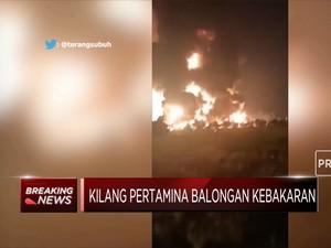 Kilang Pertamina Balongan Kebakaran