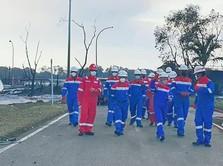 Bos Pertamina Blusukan Cek Efek Kebakaran di Kilang Balongan