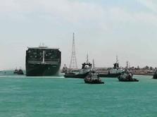 Waduh! Kapal Raksasa Nyangkut Lagi di Terusan Suez