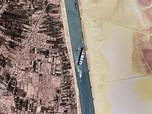 Penampakan Kapal Raksasa Nyangkut Lagi di Terusan Suez