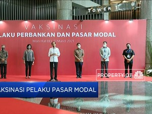 Jokowi Tinjau Vaksinasi Pelaku Pasar Modal, IHSG Anjlok 1%