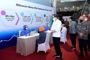 Jokowi Vaksinasi Pelaku Pasar, IHSG Malah Ambles 1% Lebih