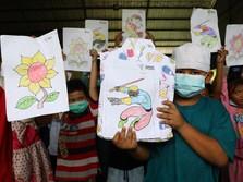 Potret Keceriaan Anak-anak Pengungsi Musibah Kilang Balongan