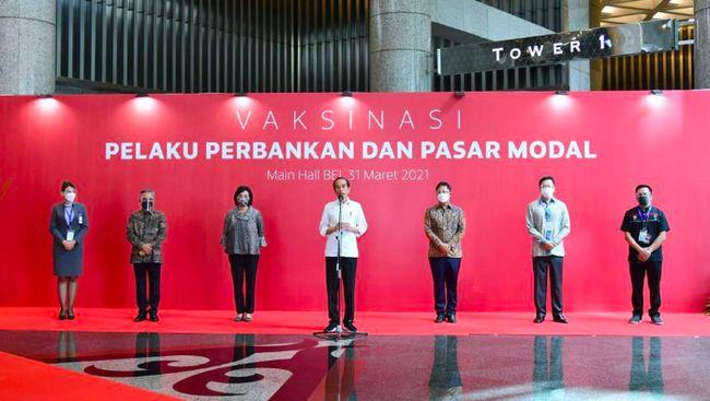 IHSG Jokowi Vaksinasi 780 Pelaku Pasar, Semoga IHSG Gak ke 5.800!