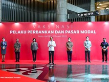 Jokowi Vaksinasi 780 Pelaku Pasar, Semoga IHSG Gak ke 5.800!