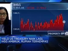 Yield US Treasury Naik Lagi, IHSG Ambruk & Rupiah Terhempas