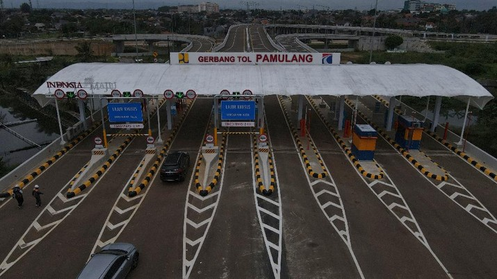 tol pamulang (CNBC Indonesia/Andrean Kristianto)