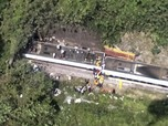 Potret Kecelakaan Kereta Api Fatal di Taiwan, 41 Orang Tewas