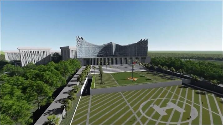 Desaiin Garuda Istana Negara Ibu Kota Baru (Instagram/@Jokowi)