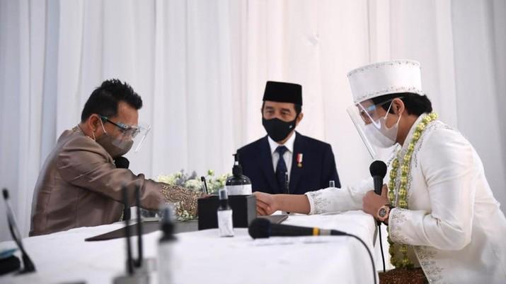 Jokowi-Prabowo jadi Saksi Akad Nikah Atta Halilintar dan Aurielle ( Lukas - Biro Pers Sekretariat Presiden)