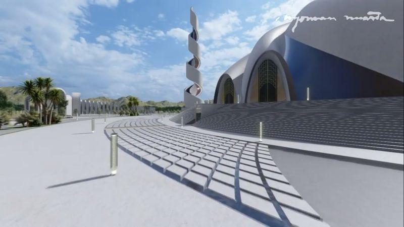 Ini Desain Masjid Agung Ibu Kota Baru, Ada Masukan? - Foto 2