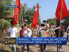 Warga Myanmar Balas Junta Militer dengan Senjata Buatan