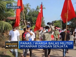 Warga Myanmar Balas Junta Militer dengan Senjata Rakitan