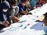Trauma Healing, Anak-Anak di Balongan Diajak Melukis
