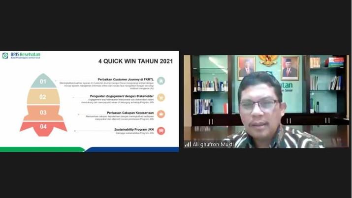 Direktur Utama BPJS Kesehatan, Ali Ghufron Mukti (tangkapan Layar)
