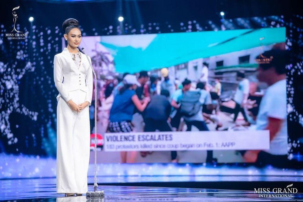 Miss Grand International, Miss Myanmar, Han Lay (Miss Grand International via Tangkapan Layar instagram @hann_may)