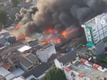 Breaking! Tanah Abang Kebakaran, 15 Unit Damkar Dikerahkan