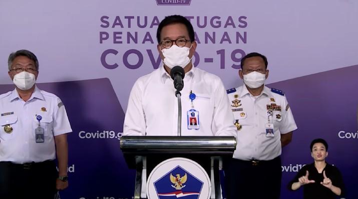 Juru bicara Satgas Penanganan Covid-19 Prof Wiku Adisasmito (Tangkapan Layar Youtube Sekretariat Presiden)