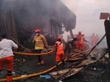 Tanah Abang Kebakaran! Ratusan Kios Pasar Kambing Hangus