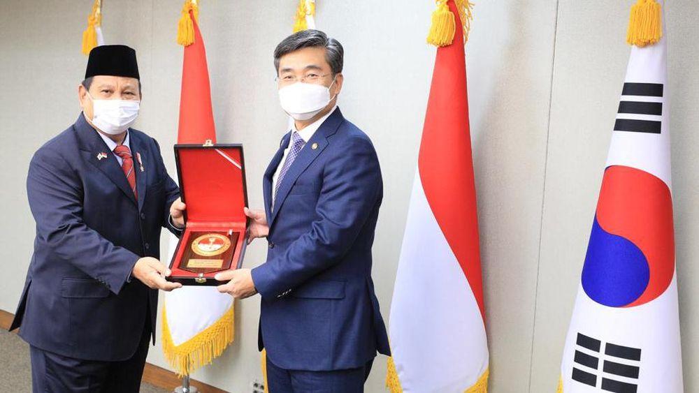 Menhan Prabowo di Korea Selatan (dok. Kemhan)